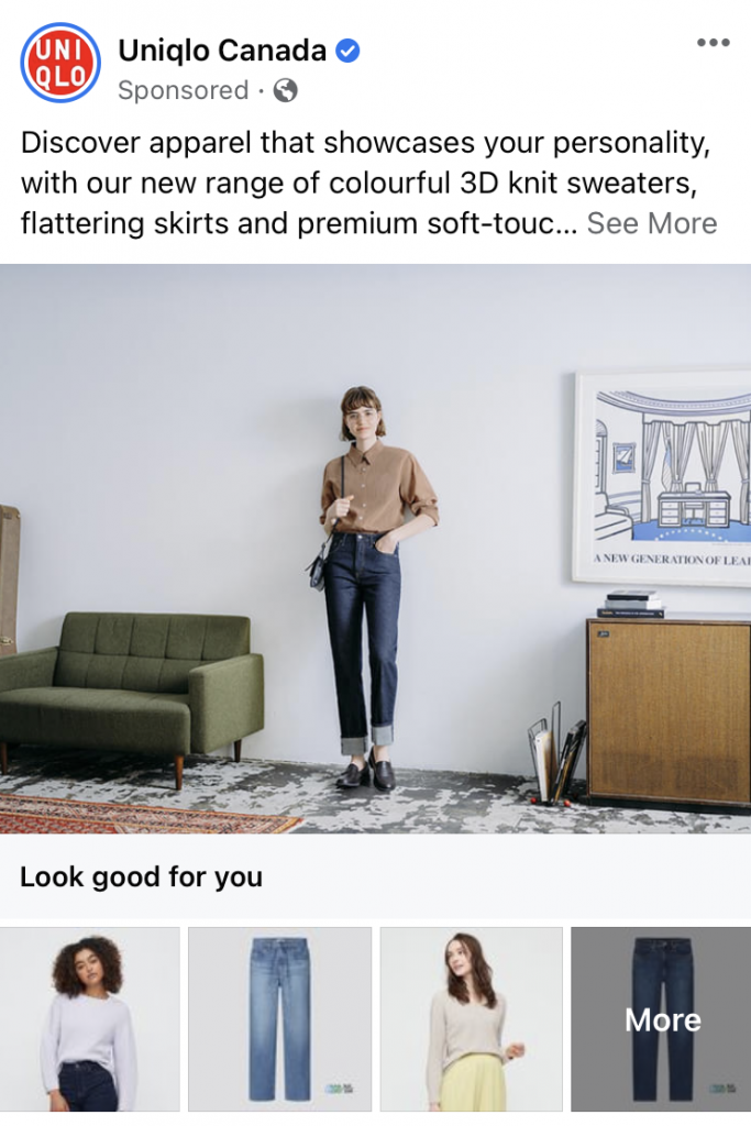facebook ad types example collection