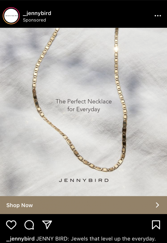 jenny bird instagram ad example k6